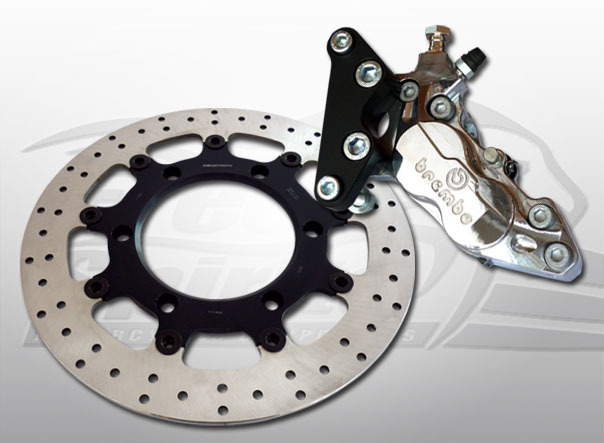 BREMBO BRAKE KIT 4 PISTON FOR TRIUMPH BONNEVILLE SE