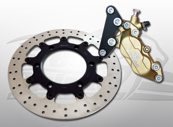 BREMBO BRAKE KIT 4 PISTON FOR TRIUMPH THRUXTON