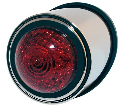 LED taillight OLD SCHOOL TYPE1, Chrome, red lens