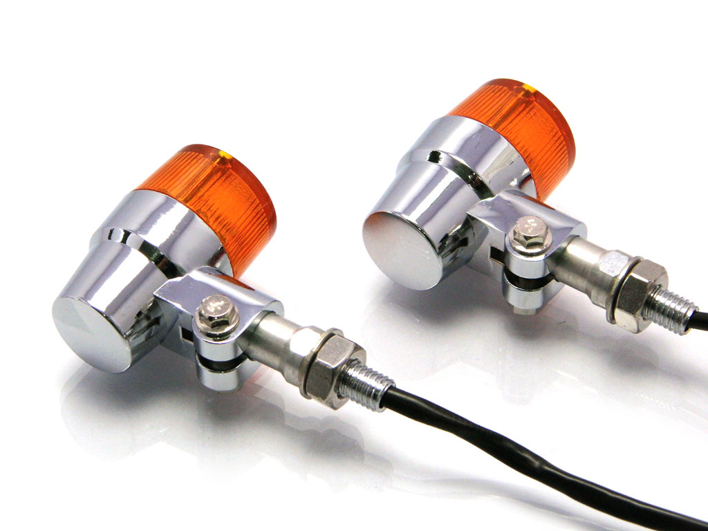 MAX CHROME ALUMINIUM RETRO LED TURN SIGNALS / INDICATORS