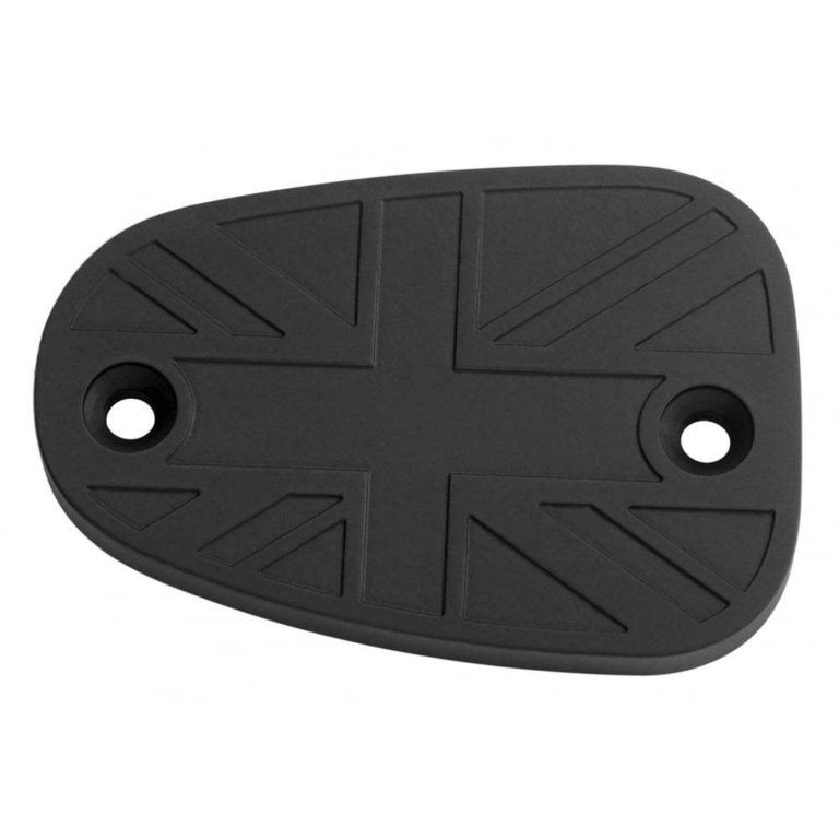 Billet Disc Brake Oil Reservoir Master Cylinder Cap MOTONE - Union Jack - Black