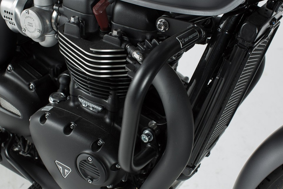 Protection moteur noir Triumph Bonneville T100/ T120 / Street Twin /Thruxton 1200