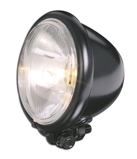 "HEADLIGHT BLACK TYPE BATES 4 1/2 ""- 112 MM"