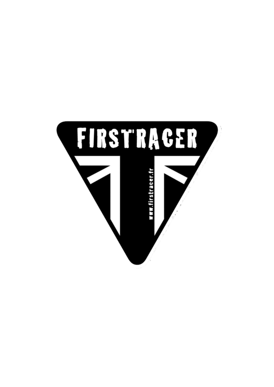 STICKERS FIRSTRACER TRIUMPH CAFE RACER BLACK