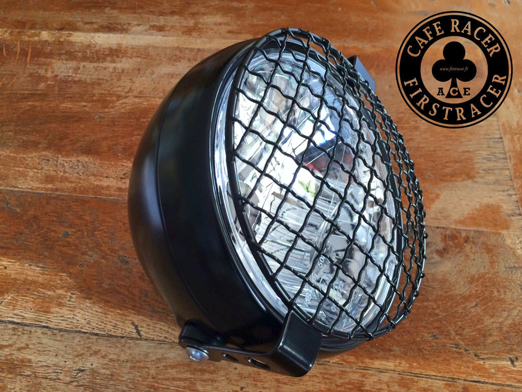 "Headlight kit 6 1/2"" - 165mm + Grid black"