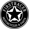 STICKERS FIRSTRACER STAR BLACK 74 MM X2