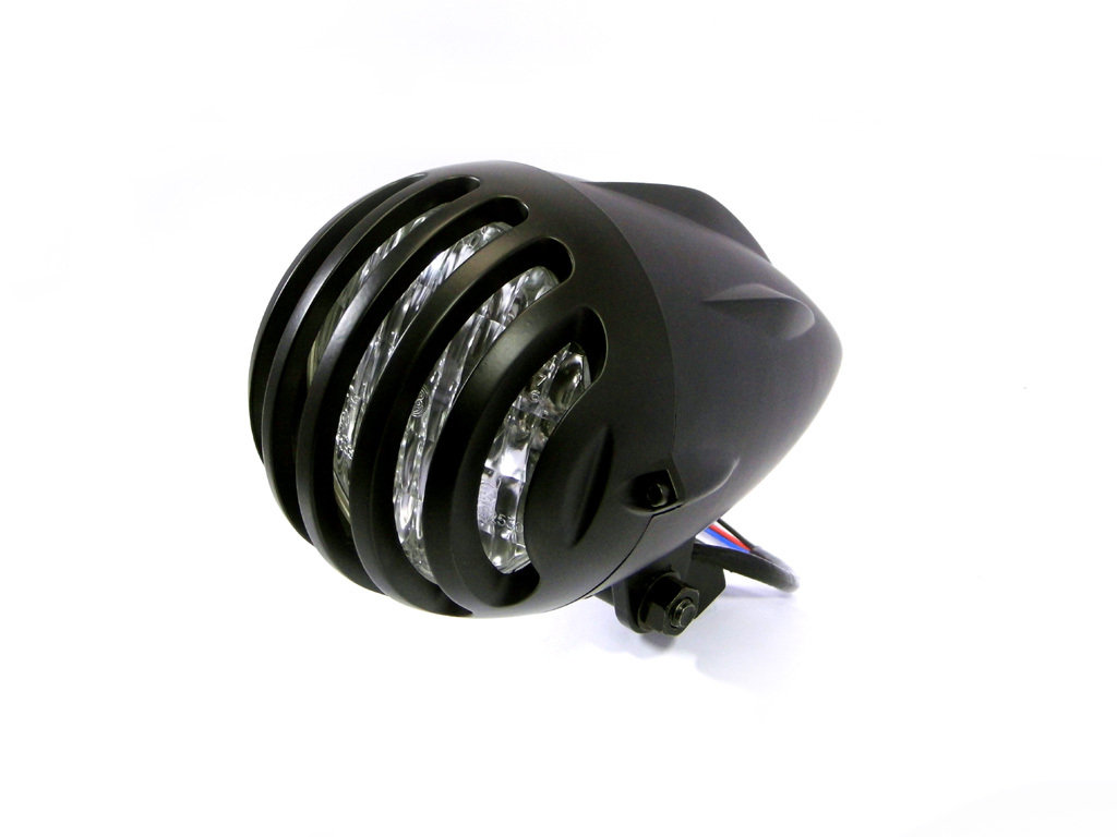 4.5 INCH MATTE BLACK UNIVERSAL BIRD CAGE HEADLIGHT