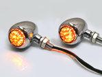 Chrome Alloy Classic LED Turn Signals / Indicators - Smoked Lense