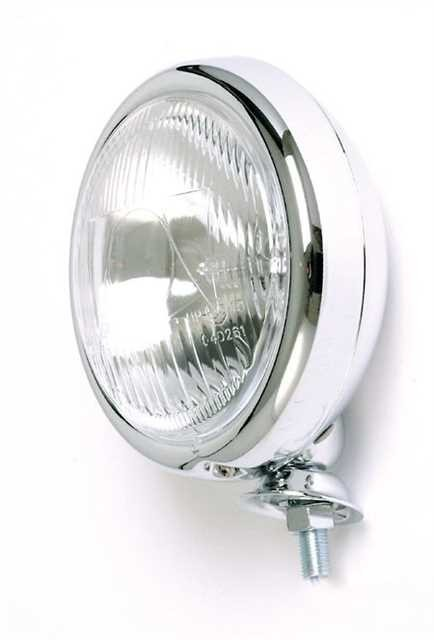 "Additional headlights 4 1/2"" mounting Low Chrome"