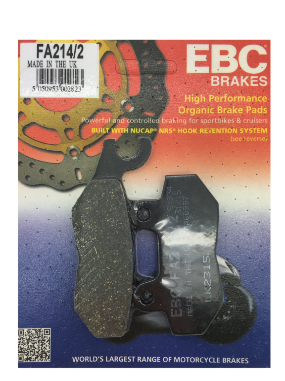 EBC Triumph Organic Triumph Bonneville / Thruxton / Scrambler rear brake pads up to 2015