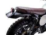 SLAMMER SEAT BROWN FOR STREET TWIN AND BONNEVILLE T120 | BLACK  BRITISH CUSTOMS