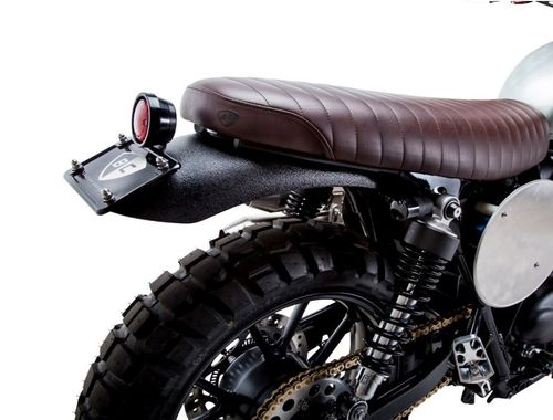 SELLE SLAMMER BROWN POUR STREET TWIN ET BONNEVILLE T120 2016 | NOIR BRITISH CUSTOMS