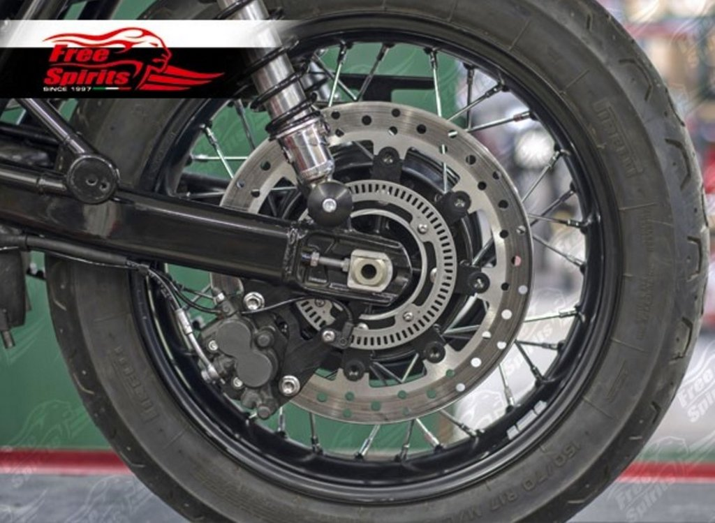 Triumph Bonneville T120 Up Grade Floating Rear Brake Rotor Kit