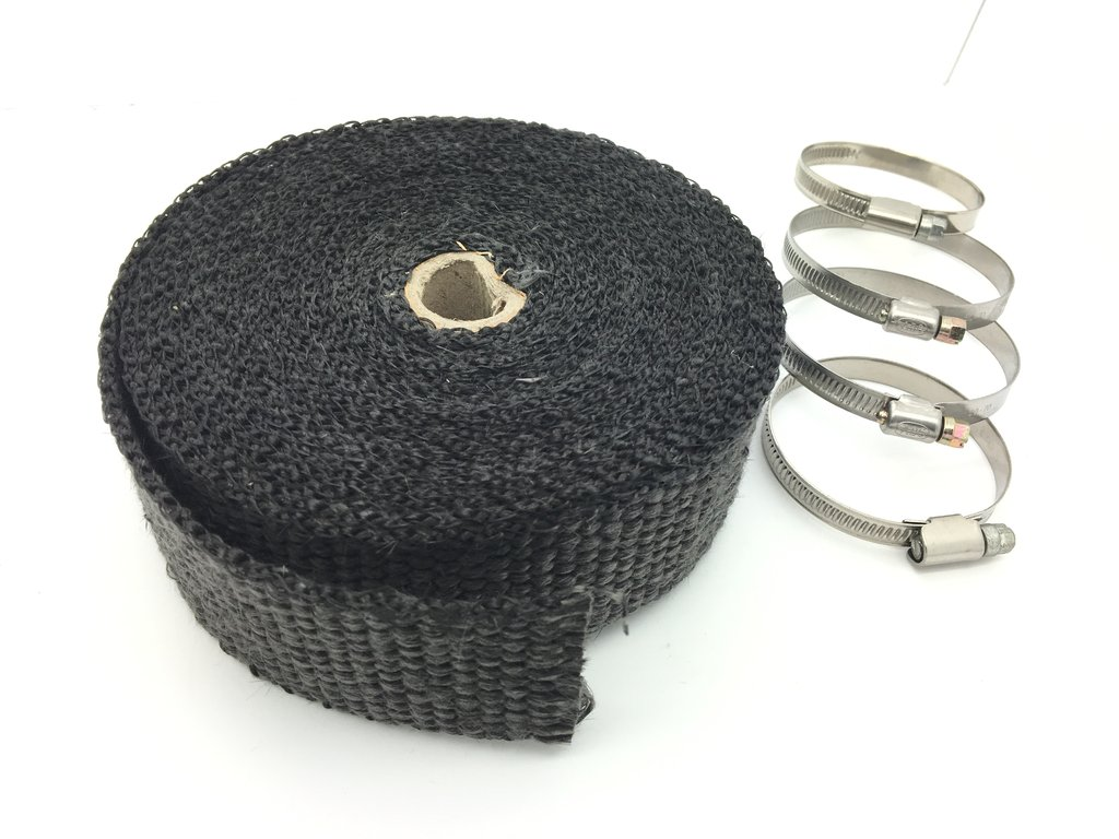 Exhaust Heat Wrap 50mm x 7.5m 550°C Black