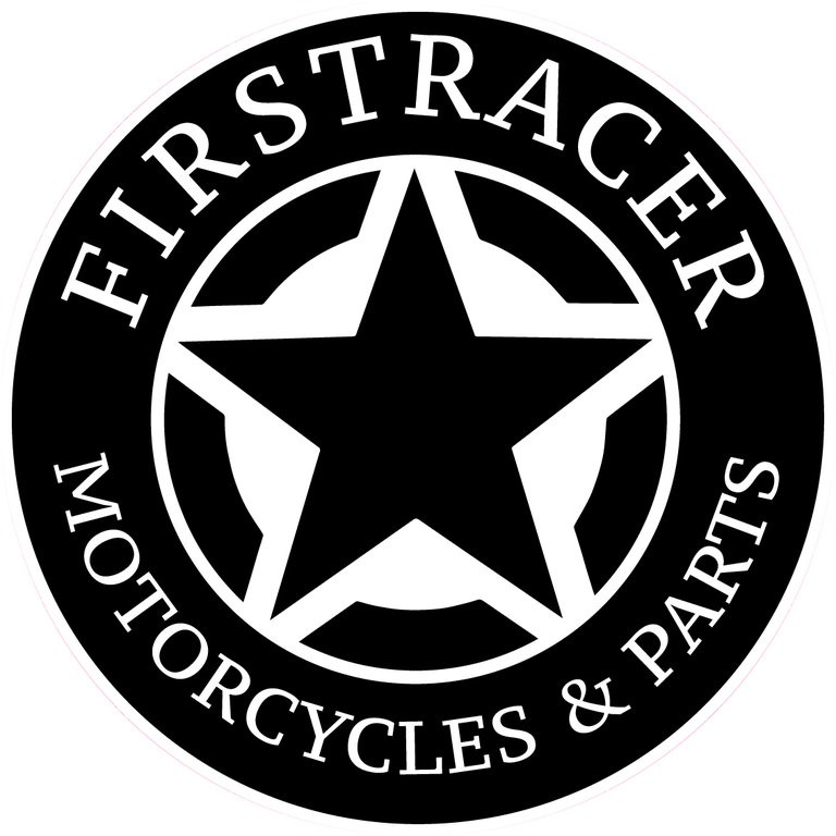 STICKERS FIRSTRACER STAR BLACK 52 MM X2