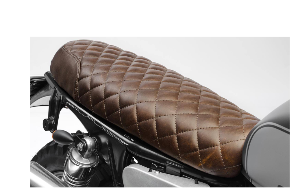 Leather seat Triumph Bonneville Riddle Brown 2001-2015