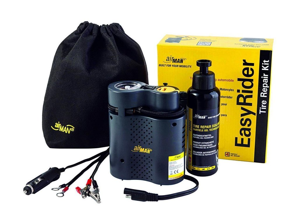 Kit mini-compresseur + bombe anticrevaison Airman EasyRider