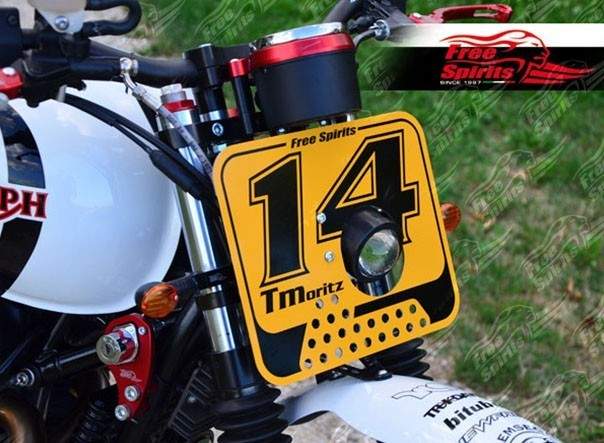 Plaque phare type Flattrack Triumph Bonneville jusque 2015
