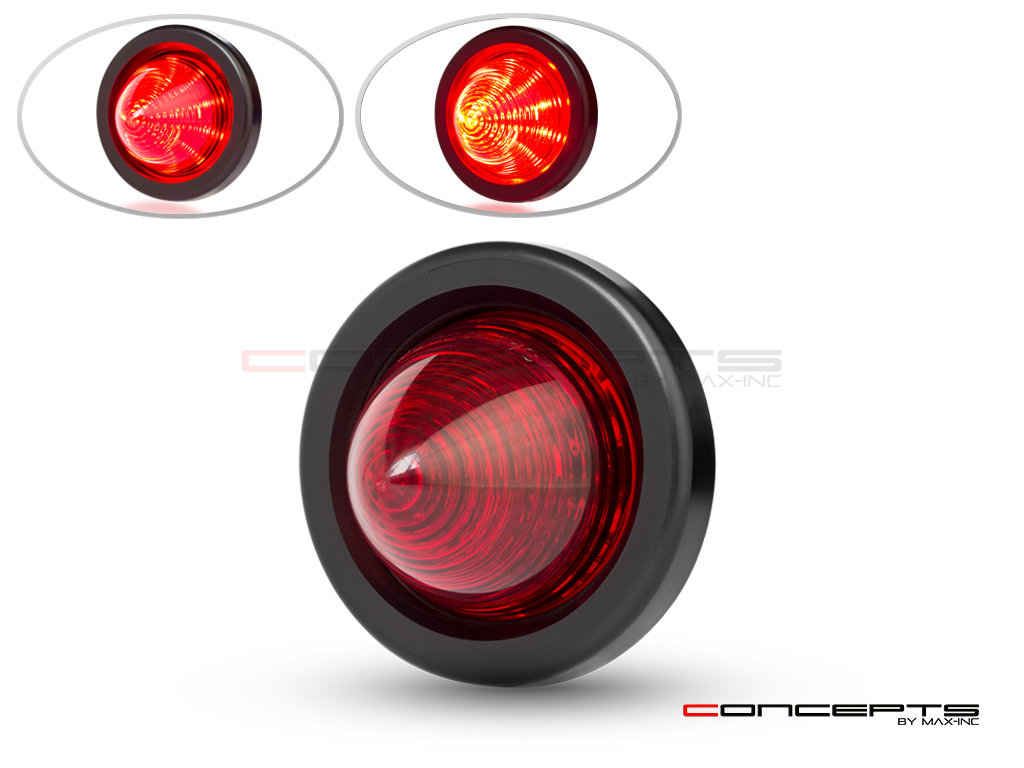 "2"" Beehive Flush Mount LED Stop / Tail Light - DOT Approved"