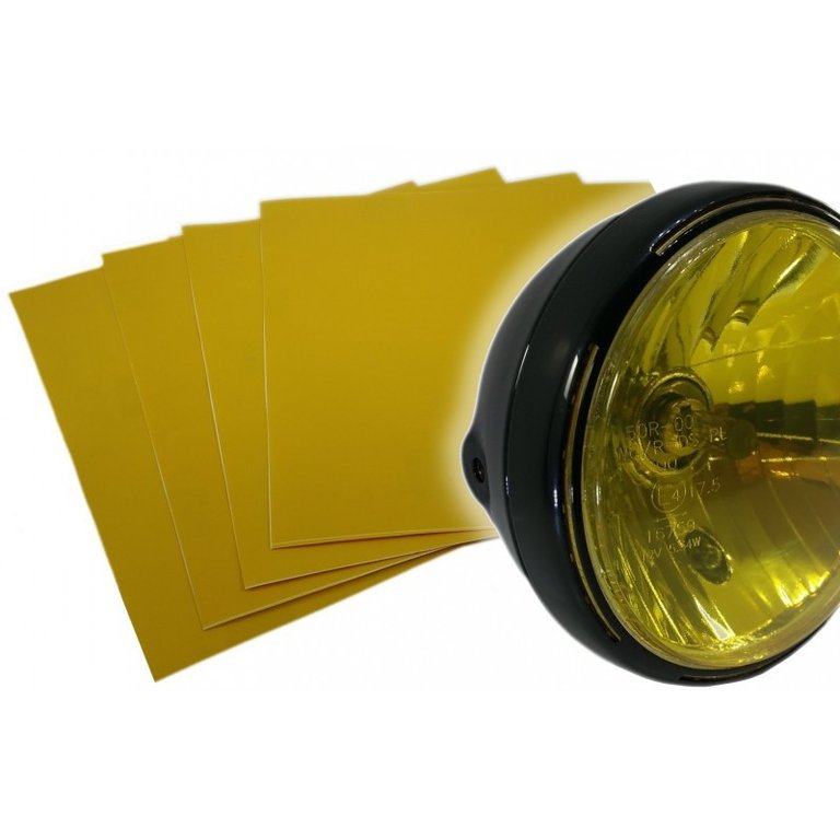 Sticker transparent yellow headlight High Resistance