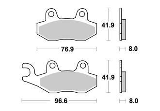 Rear Brake Pads AP RACING TRIUMPH