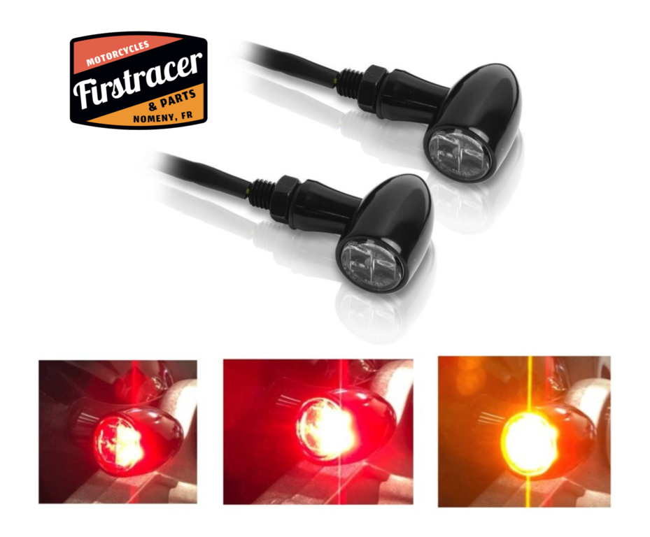 Integrated LED indicators, taillight, stop light.