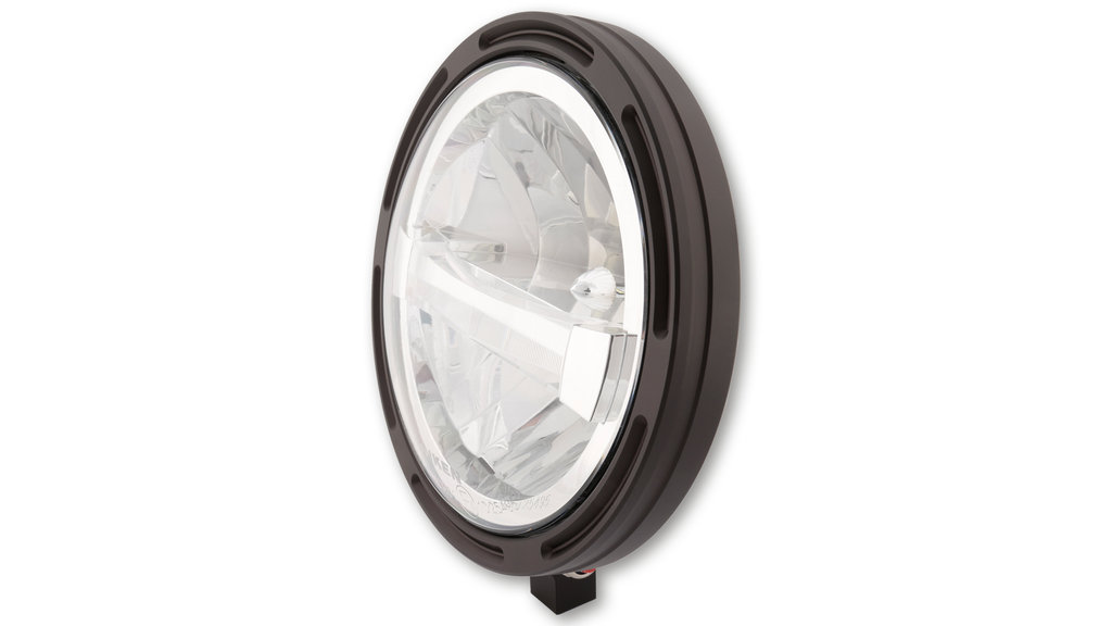 Highsider FRAME-R1 TYPE 4 LED headlight 7 inch, CE approved - bottom mounting.